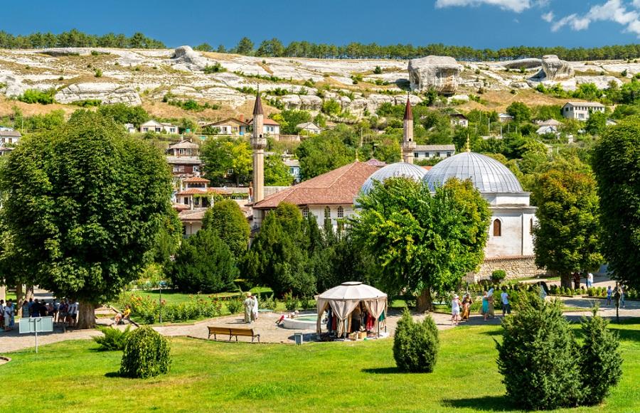 Bahcsiszaraj tatár város Krím utazás