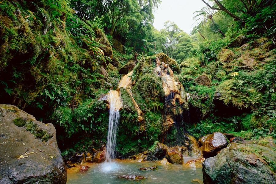 Caldeira Velha Azori szigetek Sao Miguel