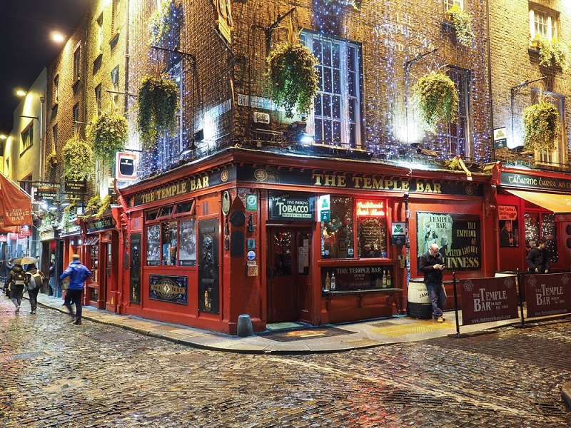 Dublin temple bar híres pub Írországban