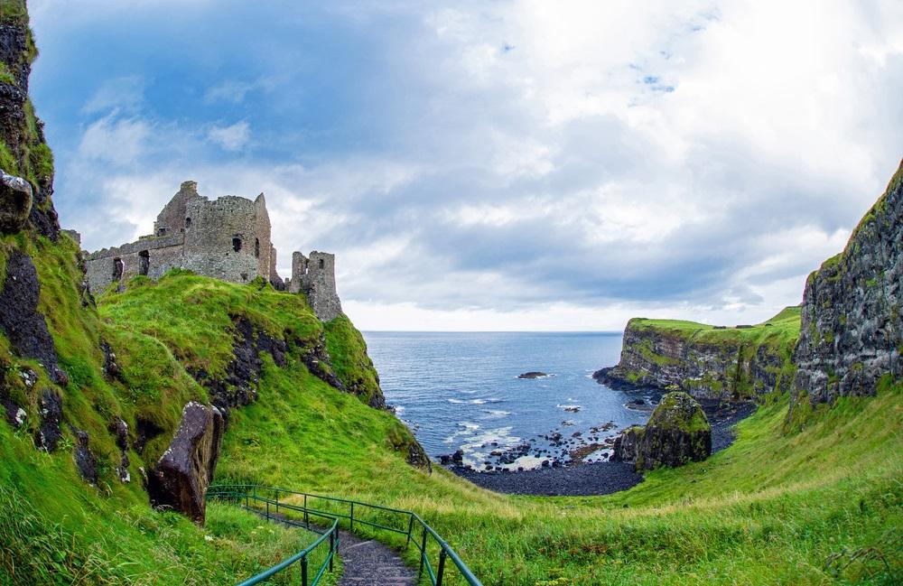 Dunluce kastély Észak Írország kalandutazás