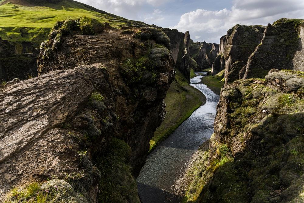 Fjadrárgljúfur kanyon túrázás izlandon