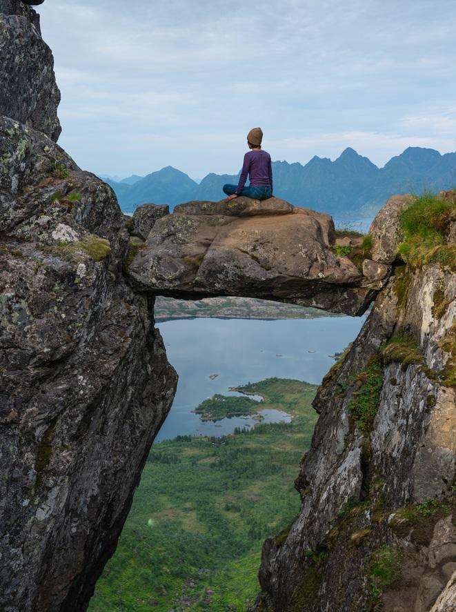 Floya csúcs Svolvaer Lofoten kalandutazás