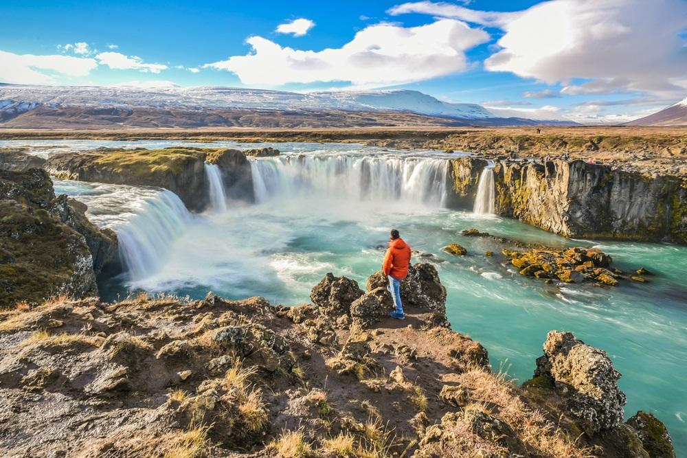 Godafoss vízesés izlandi körutazás