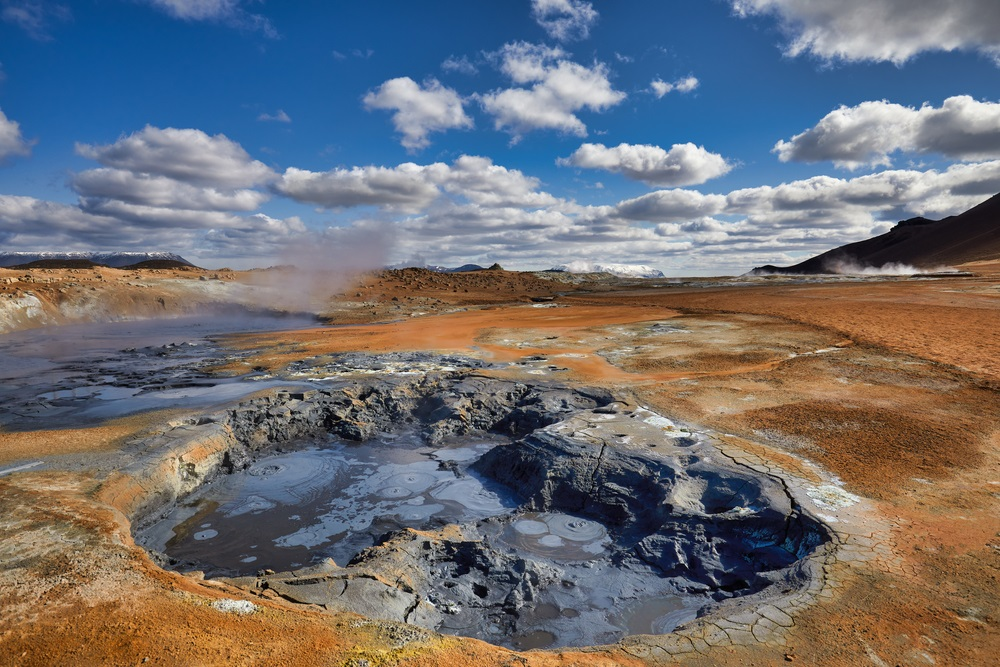 Hverir geotermikus mező izlandi utazás