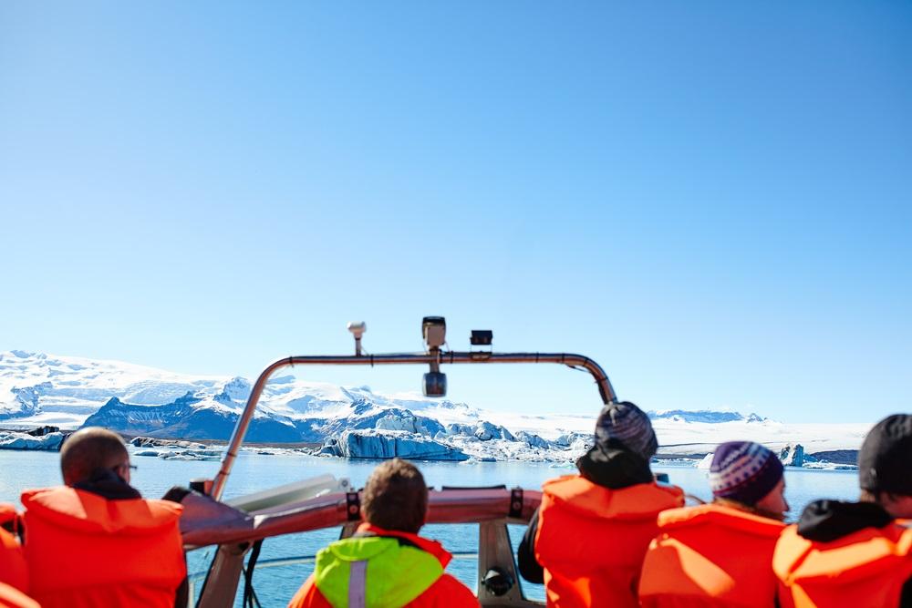 Jökulsárlón izlandi körutazás gleccser hajózás