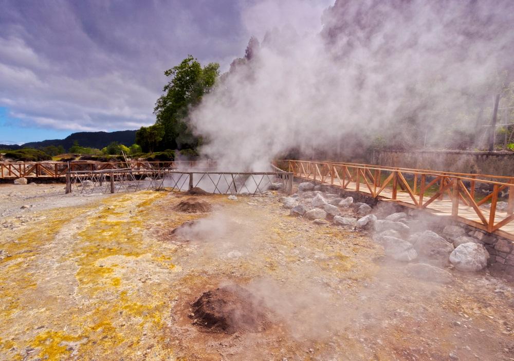 Lagoa das Furnas Azori szigetek Sao Miguel kalandutazás
