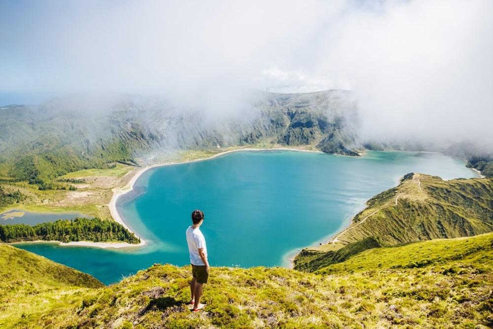 Lagoa do Fogo Azori szigetek kalandtúra csoportos utazás 1