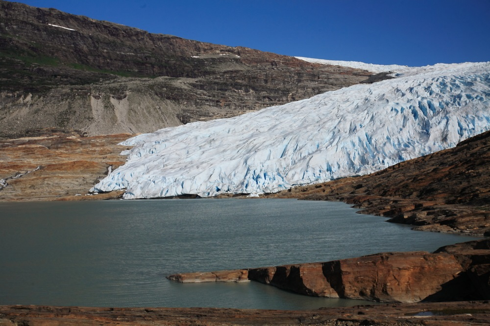 Svartisen gleccser Norvégia fjordvidék roadtrip kalandutazás