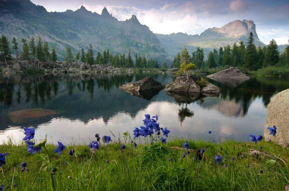 Szajánok trekking túrázás Szibéria Oroszország