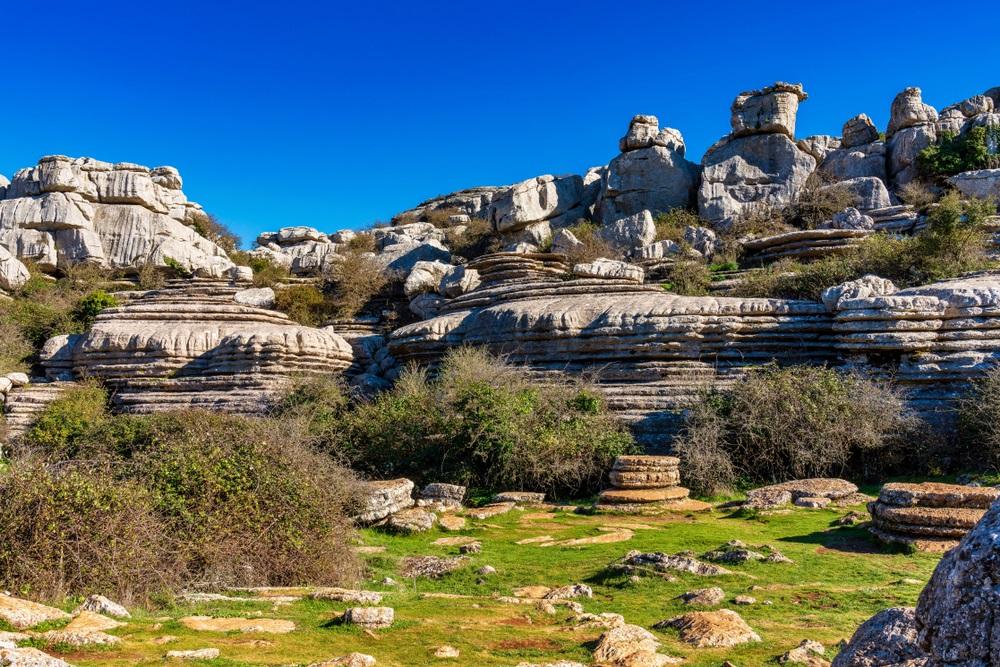 Túra a Torcal Nemzeti Parkban Andalúziában Spanyolországban kalandutazás