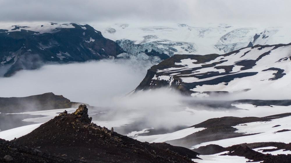 Skógar Fimmvörðuháls trekking Izland hátizsákos gyalogtúra